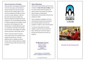 Choir Booklet