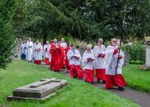 choir-procession-churchyard