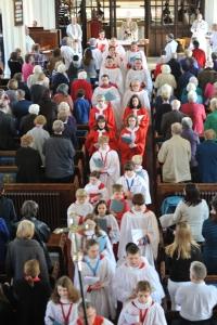 Processing choir
