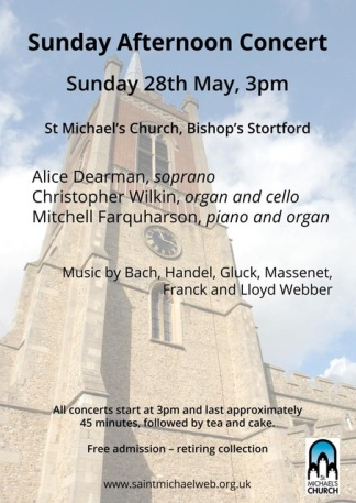 Sunday Afternoon Concert Poster 28 May 2017