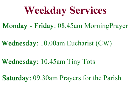 Weekday Services