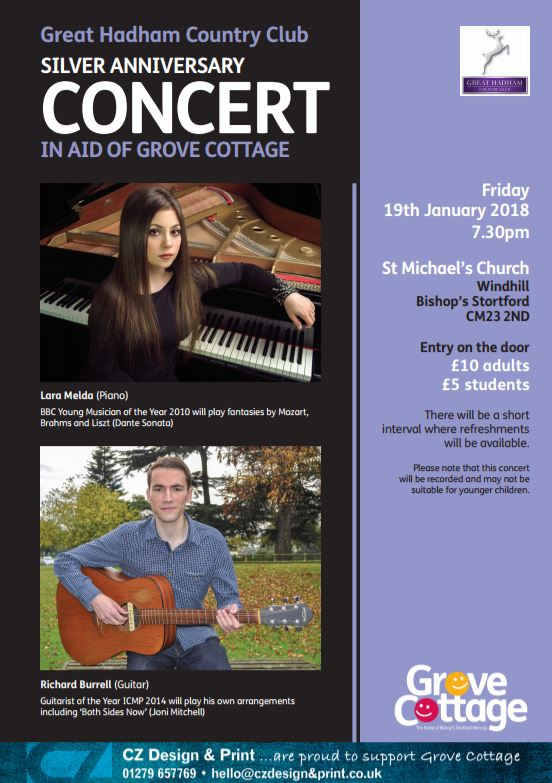 Concert for Grove Cottage