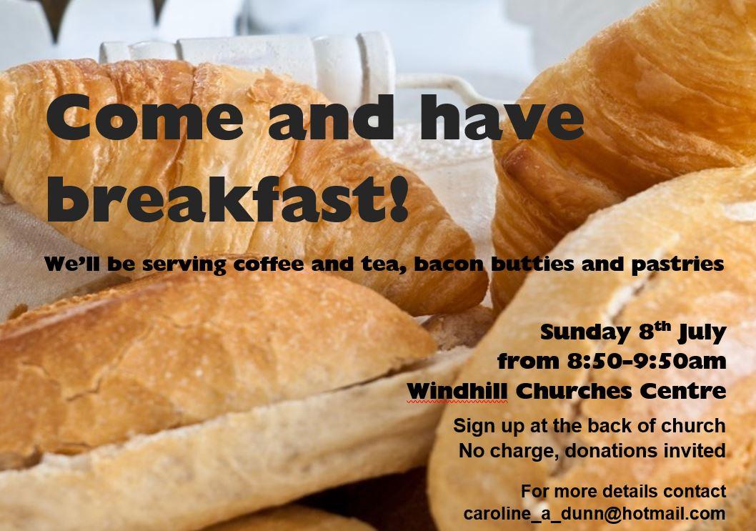 Parish Breakfast, 8th July