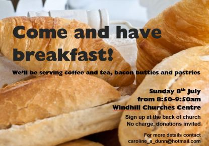Parish Breakfast, 8th July