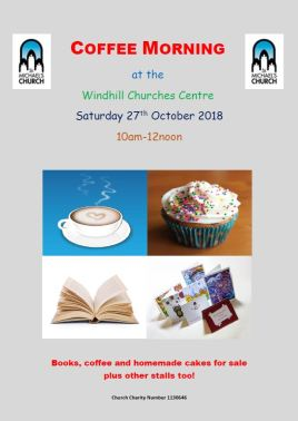 Coffee morning 27th October