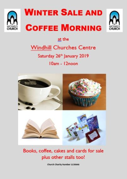 winter sale and coffee morning